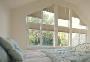 Plisseeritud žalusiid kolmnurksetele akendele - 16 tüüp