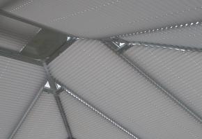 Plisseeritud žalusiid kolmnurksetele akendele - 10 tüüp