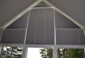 Жалюзи плиссе для треугольных окон - 11 тип