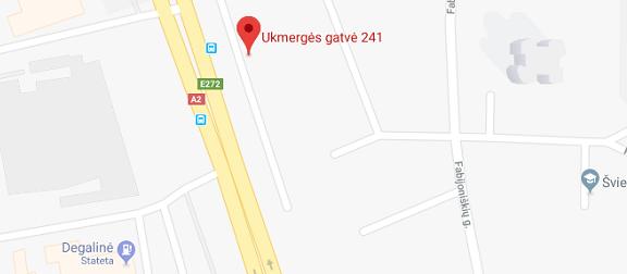 Domus Lumina salono Vilniuje Ukmergės g. 241 žemėlapis