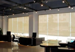 "Roller blinds protecting from sun ""SCREEN"""