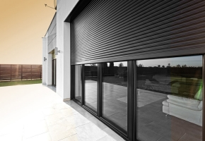 Window integrated roller shutters OPOTERM