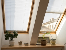 DOMUS LUMINA blinds adorn the windows of an apartment in the Kaunas Old Town