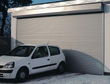 Скручиваемые ворота гаража
