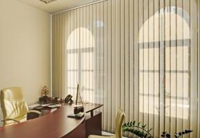 Vertikalios žaliuzės su Screen audiniu biure