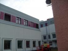 Fasadinės lamelės. Sumontuota Vilniuje