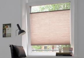 Plisy do okien typowych, sterowane za pomocą rączki – Typ 4