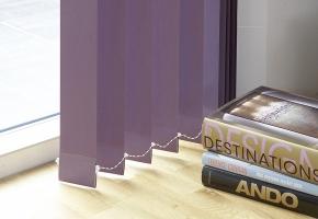 Vertical textile blinds