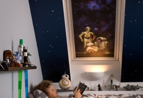 Star Wars ir VELUX Galactic Night kolekcija