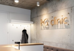 Functional Domus Lumina blinds in subtle RG CLINIC interior