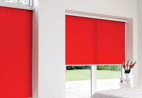 Roller blinds for plastic windows