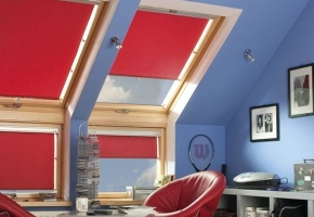 Roller blinds for roof windows