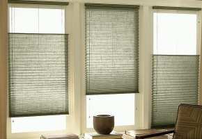 Pleated blinds for standard windows, controlled by string – type 15