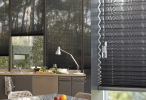 Pleated blinds for standard windows, controlled by string – type 14