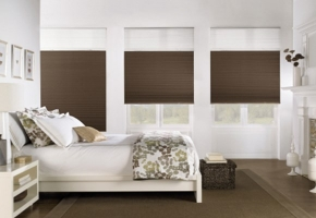 Pleated blinds with two fabrics – type 7