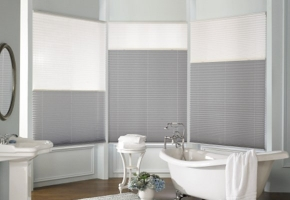 Pleated blinds with two fabrics – type 6