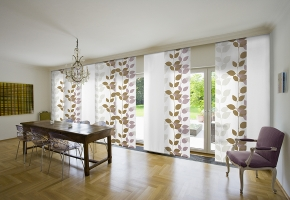 Manually controlled panel blinds