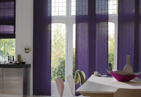 Electronically controlled panel blinds