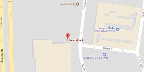 Domus Lumina salono Panevėžyje Klaipėdos g. 143A žemėlapis