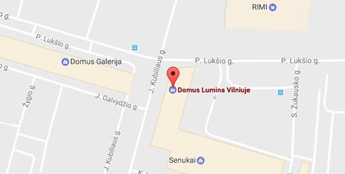 Domus Lumina salono Vilniuje P. Lukšio g. 34 žemėlapis