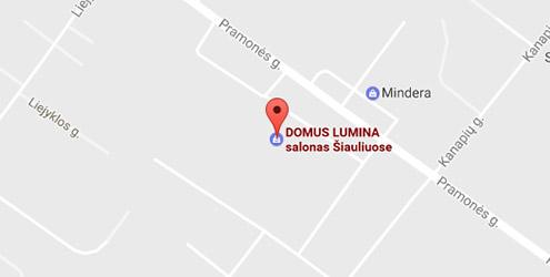 Domus Lumina salono Šiauliuose Pramonės g. 6 žemėlapis