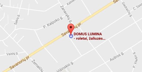 Domus Lumina salono Kaune Savanorių pr. 112 žemėlapis