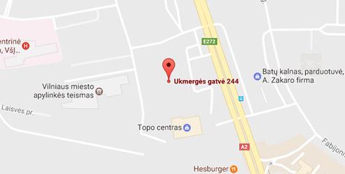 Domus Lumina salono Vilniuje Ukmergės g. 244 žemėlapis